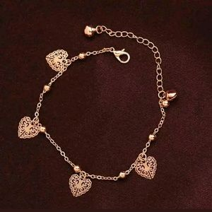 Dainty Heart Foot Anklet or Bracelet Chain